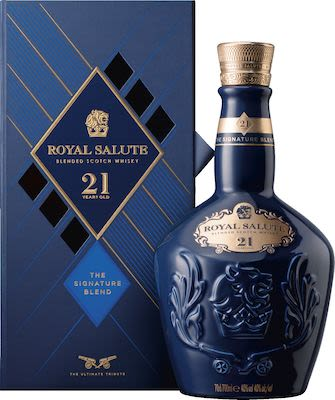 Chivas Regal Royal Salute 21 YO, 70 cl. - Alc. 40% Vol. In gift box.
