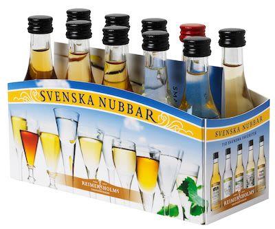 Svenska Nubbar Aquavite 10x5 cl. - Alc. 40% Vol.