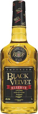 Black Velvet Reserve 8 YO, 100 cl. - Alc. 40% Vol. Canadian.