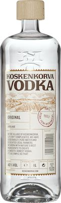 Koskenkorva Vodka 100 cl. - Alc. 40% Vol.