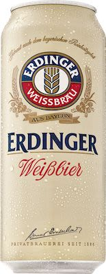 ERDINGER Weissbier with fine yeast 24x50 cl. cans. - Alc. 5.3% Vol.