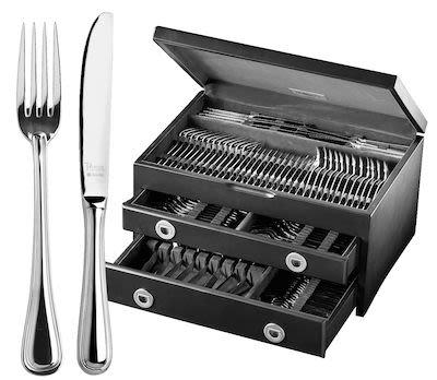 Amefa 152 pcs Silver-Plated Cambridge Cutlery Set