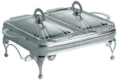 Queen Anne Double Casserole with Warmer