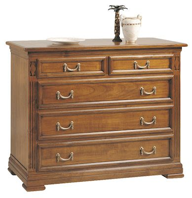 Selva Chest of 5 Drawers, antique walnut finish
