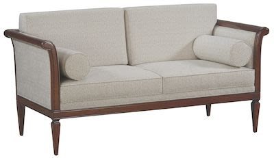 Selva Sofa, 2-seater, antique walnut finish