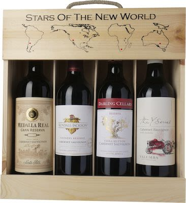 Stars of the New World Luxury. In wooden box 4x75 cl. - Alc. 13,5% Vol.