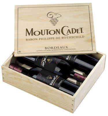 Mouton Cadet Rouge Wooden box 3x75 cl. - Alc. 13% Vol.