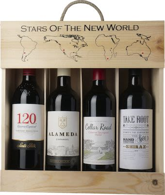 Stars of the New World. In wooden box 4x75 cl. - Alc. 12% Vol.