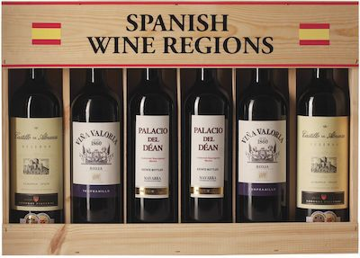 Spanish Wine Districts. In wooden box 6x75 cl. - Alc. 13,5% Vol.