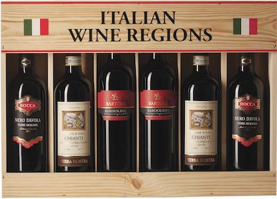 Italian Wine Districts. In wooden box 6x75 cl. - Alc. 12% Vol.