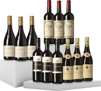 Mixed Red Wines. 12x75 cl. - Alc. 13% Vol. In gift box.