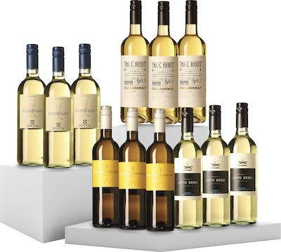 Mixed White Wines. 12x75 cl. - Alc. 13% Vol.