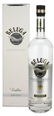Beluga Vodka 100 cl. - Alc. 40% Vol. In gift box.