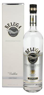Beluga Vodka 100 cl. - Alc. 40% Vol. In gift box.