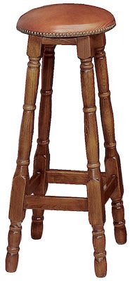 Barstool, walnut finish