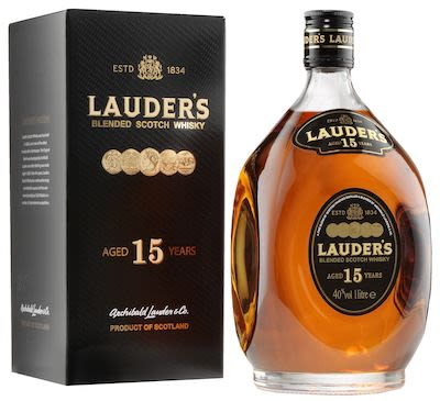 Lauder's 15 YO, 100 cl. - Alc. 40% Vol.