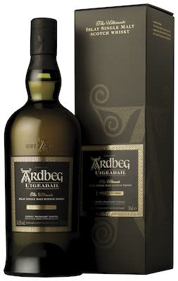 Ardbeg Uigeadail, 70 cl. - Alc. 54.2% Vol. In gift box. Islay.