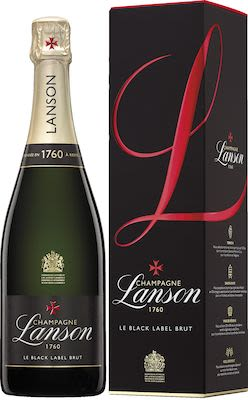 Lanson Black Label 75 cl. - Alc. 12.5% Vol. In gift box.