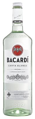 Bacardi Carta Blanca 300 cl. - Alc. 40% Vol.
