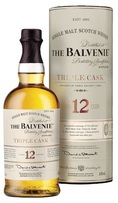 The Balvenie Triple Cask 12 YO, 100 cl. - Alc. 40% Vol. In gift box. Speyside.