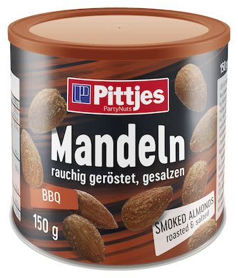 Pittjes Smoked Almonds Tin 150 g