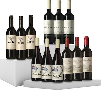 Mixed Red Wines Overseas. 12x75 cl. - Alc. 13% Vol.