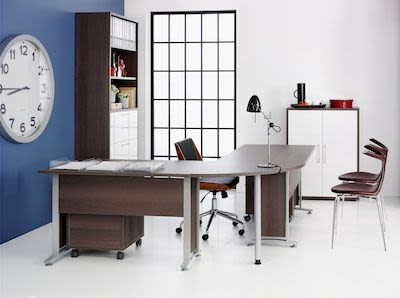 Complete Workstation, anthracite oaked coloured