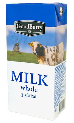 Goodburry Whole Milk UHT 3,5% 12x1 litre
