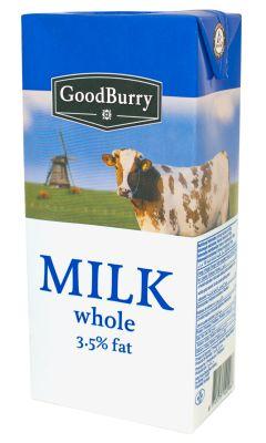 Goodburry Whole Milk UHT 3,5% 12x1 litre
