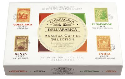 Compagnia dell'Arabica Gift set ground coffee 4x arabica