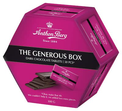 Anthon Berg Generous Box Dark 300 g