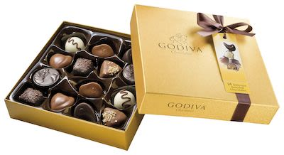 Godiva Gold Rigid gift box 14 pcs 165 g