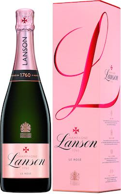 Lanson Rosé Label Brut Rosé 75 cl. - Alc. 12.5% Vol. In gift box.