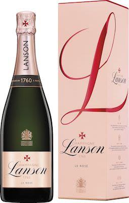 Lanson Rosé Label Brut Rosé 75 cl. - Alc. 12.5% Vol. In gift box.