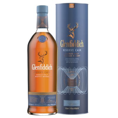 Glenfiddich Reserve Cask, 100 cl. - Alc. 40% Vol. In gift box. Speyside. Travel exclusive