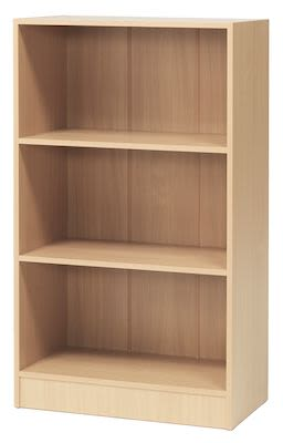 Bookcase, beech laminate