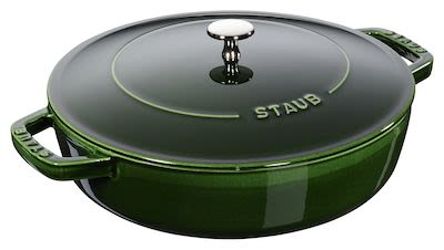 Staub Chistera Saute Pan 2.4 ltr/24 cm Green