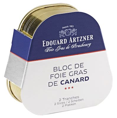 Artzner Block of Duck Foie Gras in Tin 2 Slices 75 g
