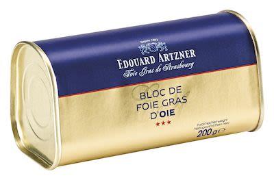 Artzner Goose Liver Block in Trapezshaped Tin 200 g