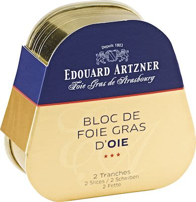Artzner Block of Goose Foie Gras in Tin 2 Slices 75 g