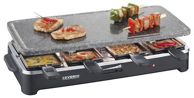 Severin RG2343 Raclette Party Grill with Natural Grill Stone