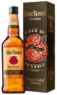 Four Roses, 100 cl. - Alc. 40% Vol. In gift box.