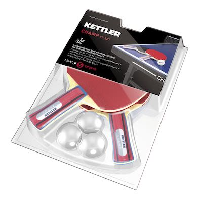 Kettler Champ Table Tennis Racket Set, 2 bats / 3 balls