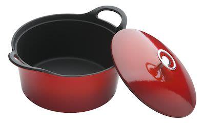 Cuisinox Cast iron casserole Red 24 cm