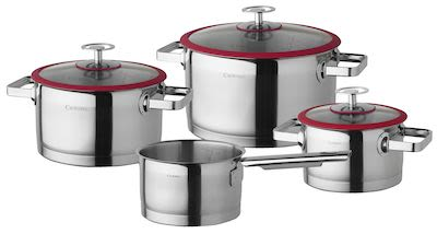 Cuisinox 4-pcs Cookware Set Red