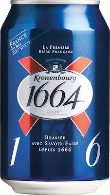 Kronenbourg 1664 24x33 cl. cans. - Alc. 5.00% Vol.