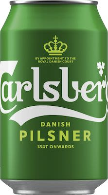 Carlsberg Beer 24x33 cl. cans. - Alc. 5% Vol.