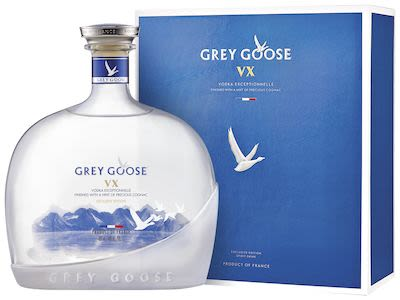 Grey Goose Vodka VX 100 cl. - Alc. 40% Vol. In gift box.