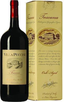 Villa Puccini Rosso Oak Aged 150 cl. - Alc. 12.5% Vol. In gift box.