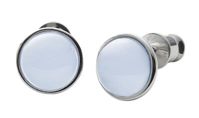 Skagen Ladies' Sea Glass Silver-Tone Stud Earrings